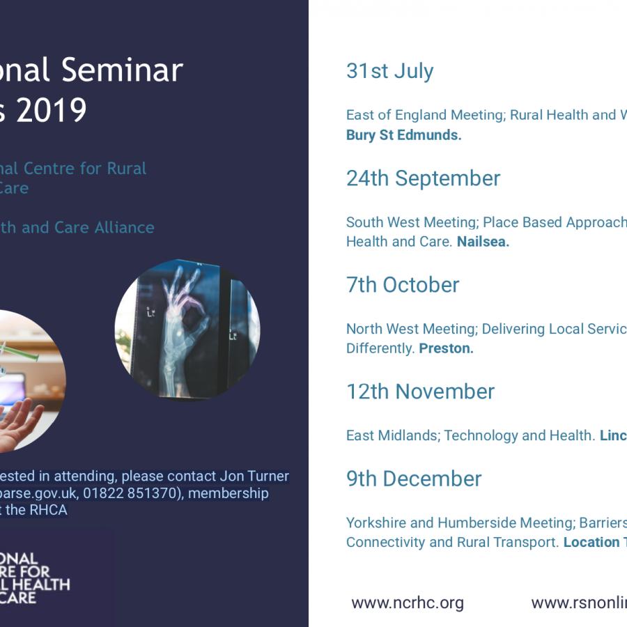 Regional Seminar Dates 2019