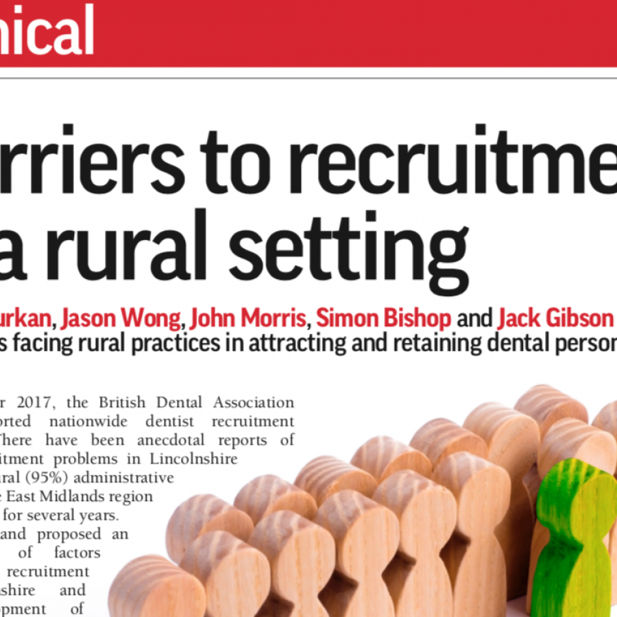 Barriers To Recruitment in a Rural Setting